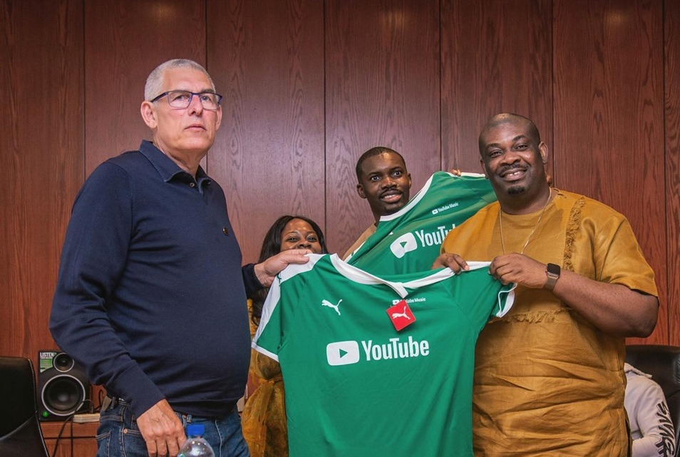 Lyor Cohen visited Don Jazzy and the team