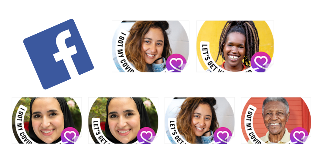 Facebook people Frame for COVID-19