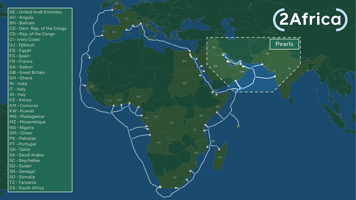 2Africa Pearls Map